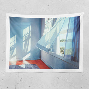 wind blow curtain tapestry