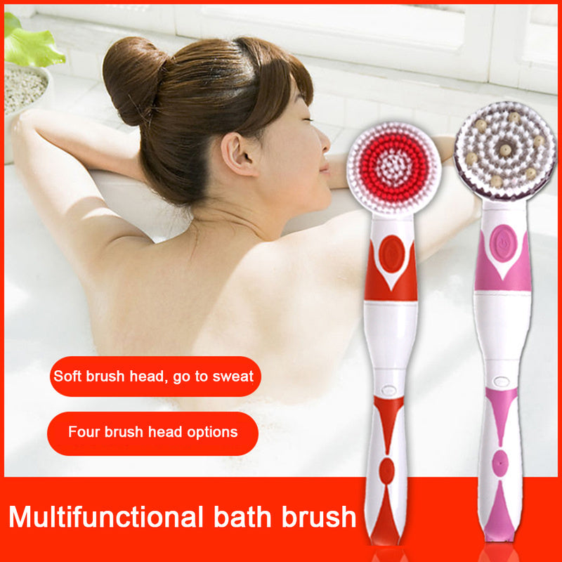Electric Brush Long Handle Cleaning Spa Massage Shower Body