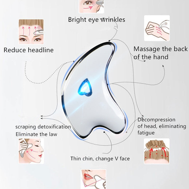 Facial Massager-Microcurrent Scraping Plate Charging Face