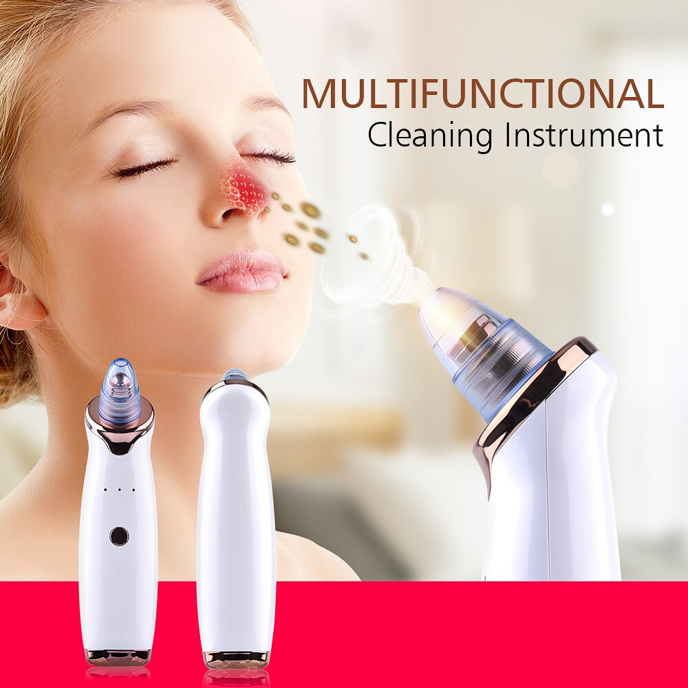 Blackhead Remover Facial Nose Cleaner T Zone Deep Pore Acne Pimple Removal Vacuum Suction Cleanser Beauty Tool Face SPA Care