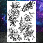 Load image into Gallery viewer, Watercolor Lavender Reed Morning Glory Flower Tattoos Temporary Women Sexy Custom Tattoo Stickers Flash Fake Girls Tato Ankle