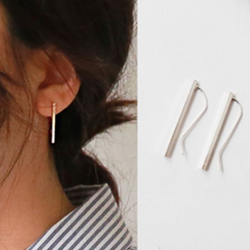 Tocona New Fashion Simple Geometric Stud Earrings Set Small Beautiful Earrings for Women Girls Minimalist Jewelry Accessories