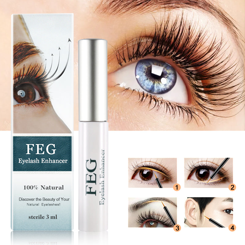 Eyelash Enhancer Growth Treatment Serum Natural Herbal Mascara Lengthening Longer