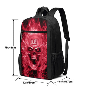 3D Skull Giants Travel Laptop Backpack 17 IN-Heroinhere
