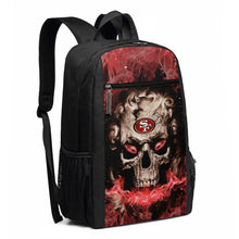 Load image into Gallery viewer, 3D Skull 49ers Travel Laptop Backpack 17 IN-Heroinhere
