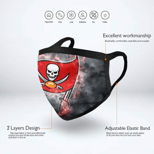 Buccaneers Illustration Art Anti-infective Polyester Face Mask-Heroinhere