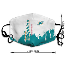 Load image into Gallery viewer, Dolphins Team Anti-infective Polyester Face Mask-Heroinhere