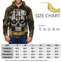 Load image into Gallery viewer, QIANOU66 3D Skull Saints Men's Zip Hooded Sweatshirt-Heroinhere
