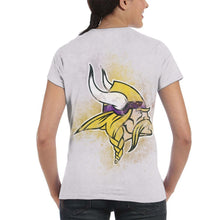 Load image into Gallery viewer, Vikings Logo T Shirts For Women-Heroinhere