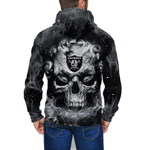 QIANOU66 3D Skull Raiders Men's Zip Hooded Sweatshirt-Heroinhere