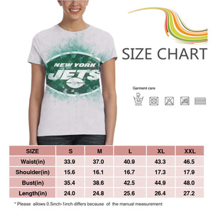 Jets Logo T Shirts For Women-Heroinhere