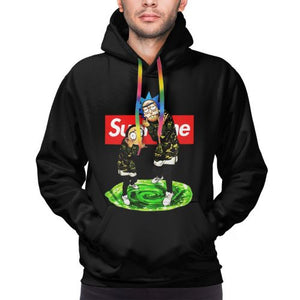 Rick And Morty Black Hoodies For Men-Heroinhere