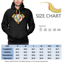 Load image into Gallery viewer, Steelers Superman Men's Long Sleeve Hooded Football Team Pullover Hoodies-Heroinhere