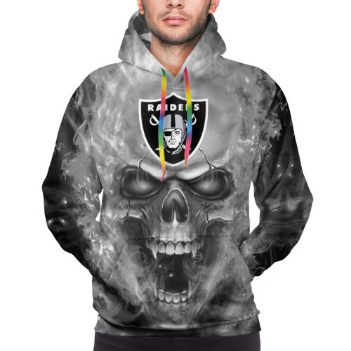 3D Skull Raiders Football Team Hoodies For Men Pullover Sweatshirt-Heroinhere