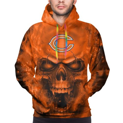 3D Skull Bears Hoodies For Men Pullover Sweatshirt-Heroinhere