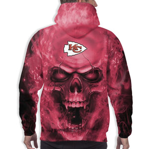 3D Skull Chiefs Hoodies For Men Pullover Sweatshirt-Heroinhere