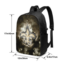 Load image into Gallery viewer, Saints Illustration Art Travel Laptop Backpack USB Backpack 17 IN-Heroinhere