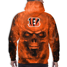 Load image into Gallery viewer, 3D Skull Bengals Hoodies For Men Pullover Sweatshirt-Heroinhere