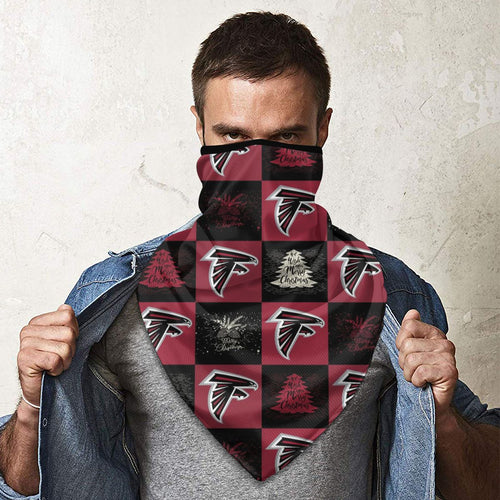 Falcons Team Ugly Christmas Obacle Seamless Bandana Rave Face Mask-Heroinhere