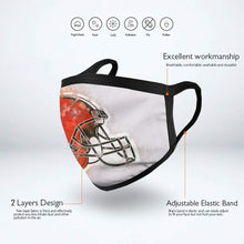 Load image into Gallery viewer, Browns Logo Anti-infective Polyester Face Mask-Heroinhere