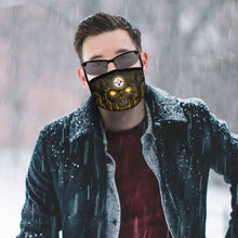 Load image into Gallery viewer, QIANOU66 Skull Lava Steelers Anti-infective Polyester Face Mask-Heroinhere