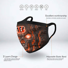 Load image into Gallery viewer, QIANOU66 Skull Lava Bengals Anti-infective Polyester Face Mask-Heroinhere