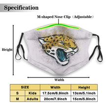 Load image into Gallery viewer, Jaguars Logo Anti-infective Polyester Face Mask With Filter-Heroinhere