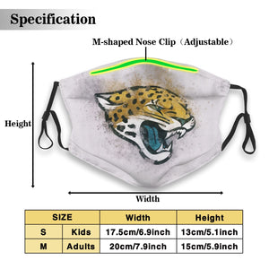 Jaguars Logo Anti-infective Polyester Face Mask With Filter-Heroinhere