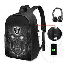 Load image into Gallery viewer, Raiders Skull Lava Travel Laptop Backpack USB Backpack 17 IN-Heroinhere