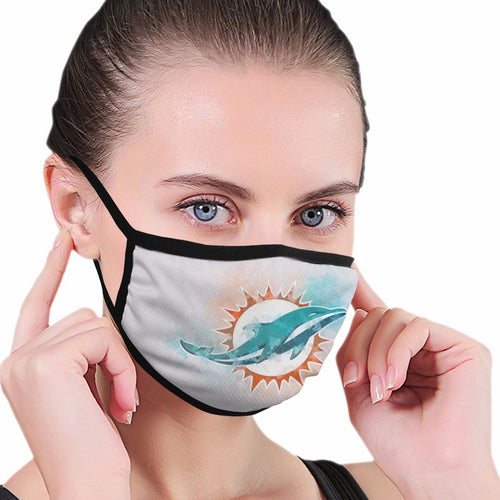 Dolphins Logo Anti-infective Polyester Face Mask-Heroinhere