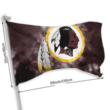 Load image into Gallery viewer, Redskins Illustration Art Flag 3*5 ft-Heroinhere