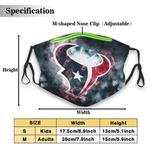 Load image into Gallery viewer, Texans Illustration Art Anti-infective Polyester Face Mask With Filter-Heroinhere