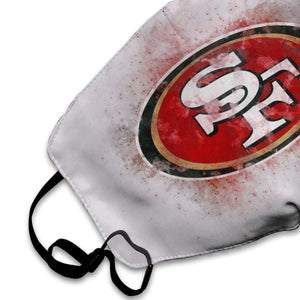 49ers Logo Anti-infective Polyester Face Mask-Heroinhere