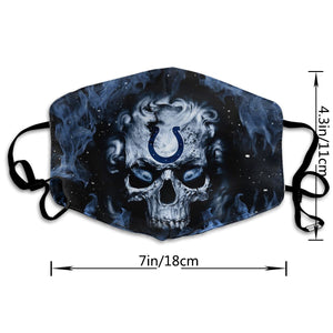 QIANOU66 3D Skull Colts Anti-infective Polyester Face Mask-Heroinhere