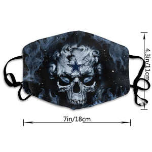 QIANOU66 3D Skull Cowboys Anti-infective Polyester Face Mask-Heroinhere