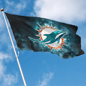 Dolphins Illustration Art Flag 3*5 ft-Heroinhere