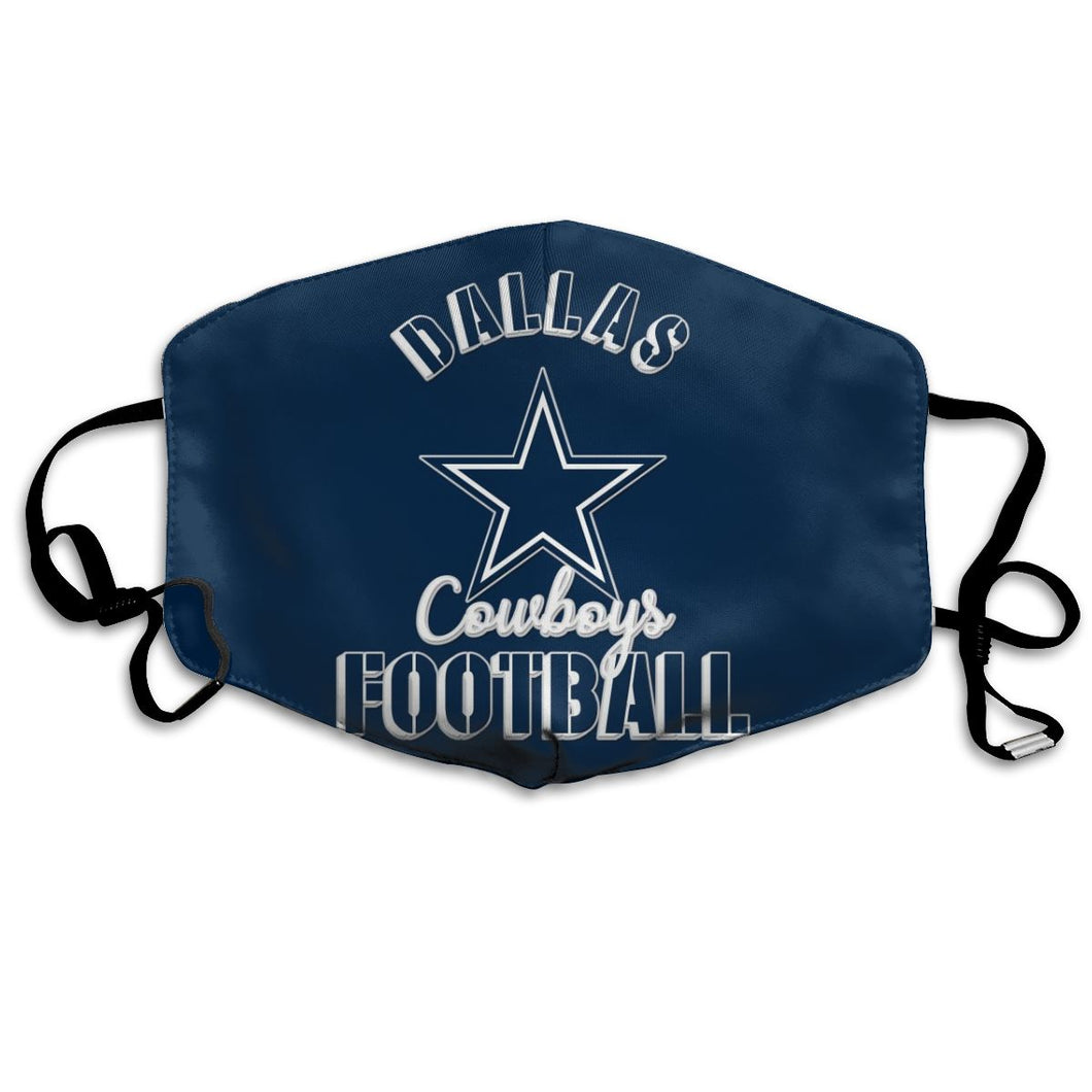 Cowboys Football Team Anti-infective Polyester Face Mask-Heroinhere
