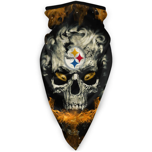 QIANOU66 3D Skull Steelers Obacle Seamless Bandana Rave Face Mask-Heroinhere