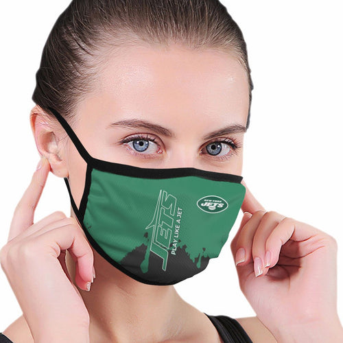 Jets Team Anti-infective Polyester Face Mask-Heroinhere