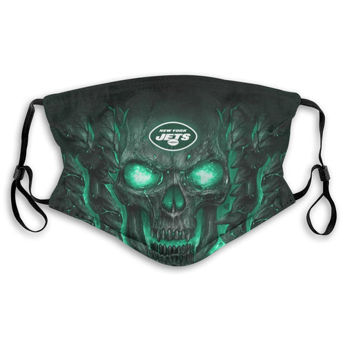 Jets 3D Skull Lava Anti-infective Polyester Face Mask With Filter-Heroinhere
