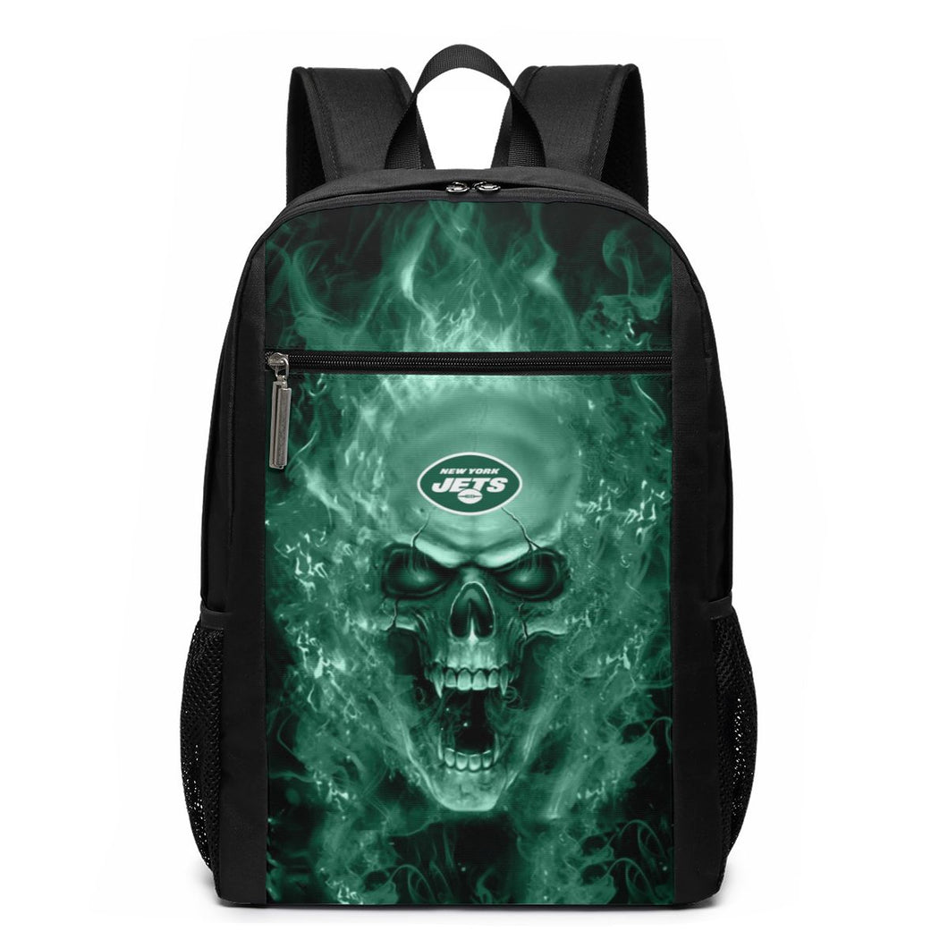 3D Skull Jets Travel Laptop Backpack 17 IN-Heroinhere