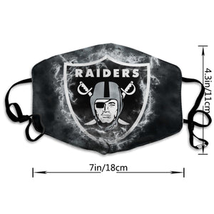 Raiders Illustration Art Anti-infective Polyester Face Mask-Heroinhere