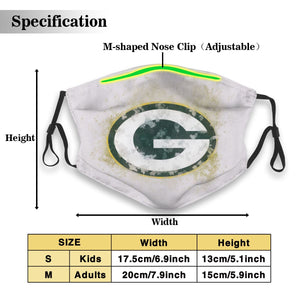 Packers Logo Anti-infective Polyester Face Mask With Filter-Heroinhere