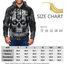 Load image into Gallery viewer, QIANOU66 3D Skull Raiders Men's Zip Hooded Sweatshirt-Heroinhere