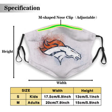 Load image into Gallery viewer, Broncos Logo Anti-infective Polyester Face Mask With Filter-Heroinhere