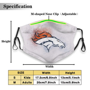 Broncos Logo Anti-infective Polyester Face Mask With Filter-Heroinhere