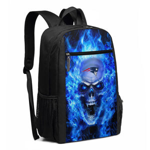 3D Skull Patriots Travel Laptop Backpack 17 IN-Heroinhere