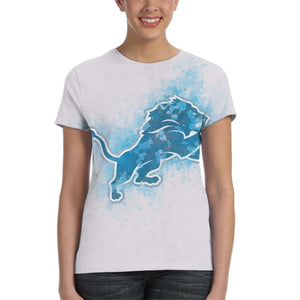Lions Logo T Shirts For Women-Heroinhere
