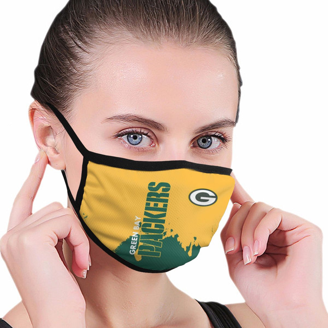 Packers Team Anti-infective Polyester Face Mask-Heroinhere