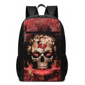 3D Skull Buccaneers Travel Laptop Backpack 17 IN-Heroinhere
